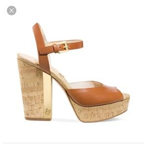 Michael Kors London Cork platform heels